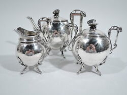 Ball, Black / Wendt Tea Set - Antique Aesthetic - American Sterling Silver