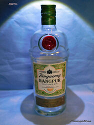 Tanqueray Rangpur Lime Gin Bottle Empty 750ml W/ Lid Clear Green Tinted Glass Bo