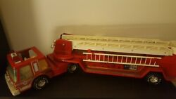 Nylint Metal Muscle Vintage Fire Truck With Working Crane Ladder All Original