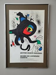 Joan Miro Lithograph Gallery Poster -guaranteed Not Any Sort Of Replica Framed