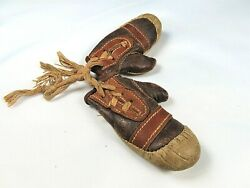 Vintage 1930's - Miniature Leather Boxing Gloves - Hand Made And Stitched