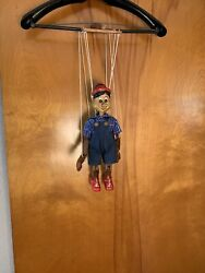 Pinocchio - Wooden Marionette, 18 Inches Tall, Handmade From Czech Republic