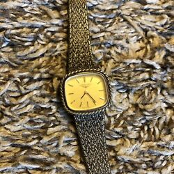 Longines Vintage Womens Watch Missing Knob Untested Sold As Is Silver Bracelet