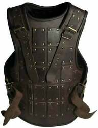 Medieval Muscles Armour Jacket And Spartan Helmet Knight Leather Halloween Costume