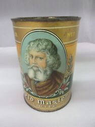 Vintage Old Master Brand Coffee Tin Advertising Collectible Graphics 797-u