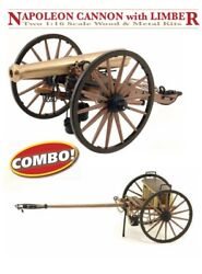 Guns Of History Ms4003cb Napoleon Cannon With Limber - Wood And Brass Model Kits