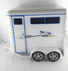 """Breyer Deluxe Two Horse Trailer Traditional Series 2002 Large 14"""" Broken Latch"""