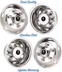 19.5 Hino Fd Stainless Wheel Simulator Rim Liner Hubcap Covers 6 Lug 6hh Andcopy
