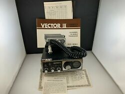 Vintage Vector Ix 23 Channel Cb Mobile Transceiver Radio W/ Manual Untested
