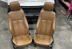 03-08 Bmw Z4 E85 E86 Saddle Brown Extended Leather Manual Heat Seats/door Panels