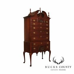 Statton Private Collection Cherry Queen Anne Highboy