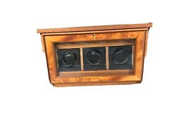 Agresti Made In Italy Triple Watch Winder In Brown Wood Excellent