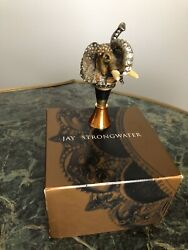 Jaystrongwater Elephant Metal/crystal Stoppernew