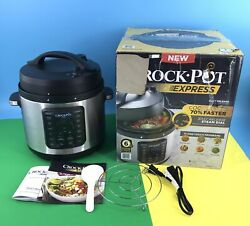 Crock Pot Express 6 Qt Sccppc600-v2 Pressure Cooker With 13 One-touch Programs