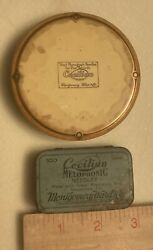 Vintage Cecilian Record Duster And Needle Tin Montgomery Wards