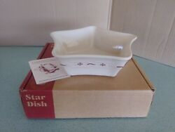 Longaberger Usa Pottery Shining Star Dish Bowl Traditional Red New In Box
