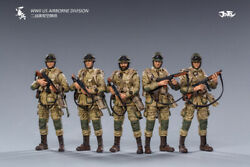 Joytoy 1/18 3.75 Inch Wwii Us Airborne Division 5 Action Figures In Stock