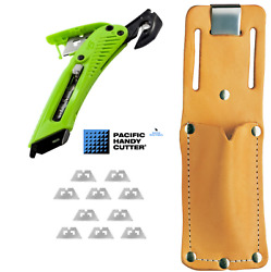 Pacific Handy Right Hand S5r Safety Cutter, Leather Holster And 10 Blades Package