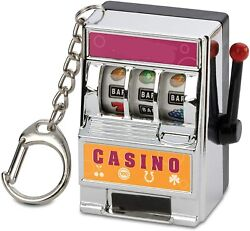 Mini Slot Machine Funny Keychain Great Stress Reliever Game