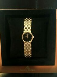 Baume And Mercier 18k Slim Line Watch With Original Box, Book And Papers