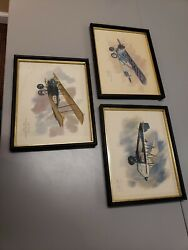 Nixon Galloway United Airlines Prints 1973 1976 Lot Of 3