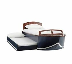 Pottery Barn Cruiser Bed - Full Size Bed With Trundle And Storage Wood Deck