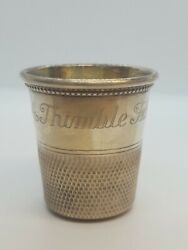 Vintage Sterling Silver Shot Glass/jigger Only A Thimble Full Ref3274