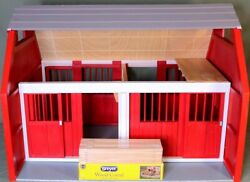 🐎 Breyer Horse Large Wood Stable Barn w New Corral 28.75quot; x 20.75quot; x 21.75quot;