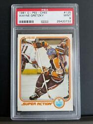 1981-82 Opc Wayne Gretzky Psa 9 Mint Card 125 Super Action Oilers O-pee-chee Sp