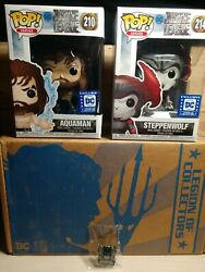 Legion Of Collectors Dc Funko Justice League Aquaman And Steppenwolf Pops Only