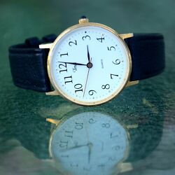 Vintage Timex Quartz Menandrsquos Wrist Watch Working New Battery New Band Fits 7-7.5andnbsp