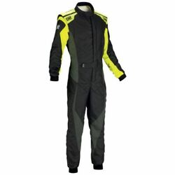 Omp Racing Ia0185917852 Tecnica Evo Safety Suit My2018 Black/yellow Size 52 New