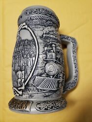 Coors Beer Stein - 2001 The Golden Spike 2nd In Series Of Collector Steins
