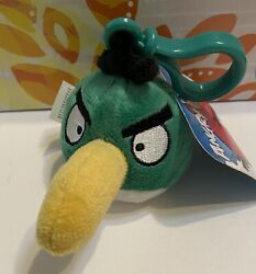 Angry Birds Green Toucan Boomerang Hal Backpack Clips New