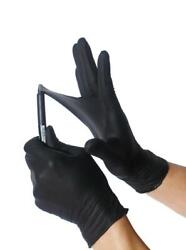 BLACK Nitrile Gloves EXTREMELY DURABLE S M L XL Powder free EXAM 50 1000 PCS $28.99