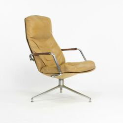 1960s Fabricius And Kastholm Kill International Fk86 Lounge Chair In Tan Leather