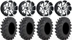 Itp Twister 14 Wheels Machined 30 Outback Max Tires Yamaha Grizzly Rhino