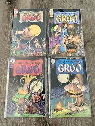 Sergio Aragones Groo 1-4 Complete Vf Condition Sleeved 4 Comic Book Lot