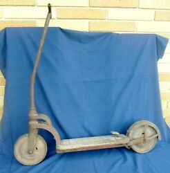 Antique Kids Push/kick Scooter Rare Find 20's 30's 40's Child's Scooter
