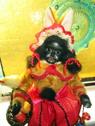 Antique Easter Rabbit-bunny Candy Container Black Ethnic -germany