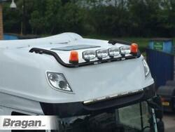 To Fit 13+ Daf Xf 106 Superspace Black Roof Bar + Spot + Led + Beacon + Air Horn
