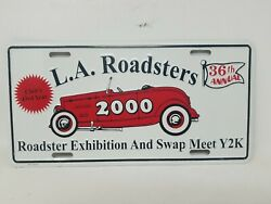 L.a. Roadsters 36th Annual Roadster Exhibition Swap Meet 2000 License Plate J