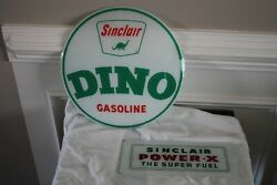 Vintage Sinclair Oil Gas Pump Lens And Glass Insert Lot Of 2 Mint