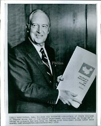 1972 William Rogers Wa State Department Publication Peoples China Wirephoto 8x10