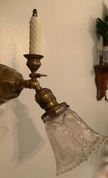 Antique C.1915 Era Gas Electric Wall Sconce Rewired Restored