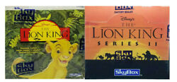 1994 Skybox The Lion King Series 1 And Series 2 2 Box Lot 72 Packs Wow