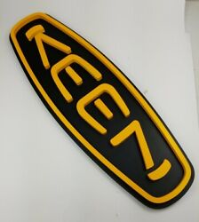 Keen Shoes Sign Black Yellow Oval 24x8 Store Advertising Display Rack Modern