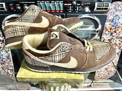 Size 10.5 - Nike Sb Dunk Low Pro Tweed 2004 Good Condition