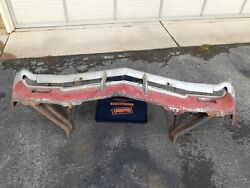 1966 Ss Impala Biscayne Bel Air Caprice Front Bumper With Brackets And Valance