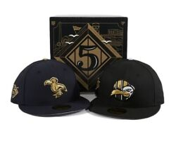 Exclusive New Era 59fifty 7 1/2 Thrill Sf 5th Anniversary Box Set 2 Fitted Caps